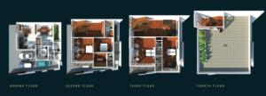 San Juan Townhouse Layout